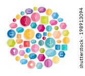 set of various stroke icons.... | Shutterstock .eps vector #198913094