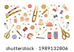 set of different tools for... | Shutterstock .eps vector #1989132806