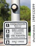 Street Crossing Sign With...