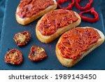 Homemade Bruschetta With Red...