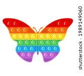 trendy antistress sensory toy... | Shutterstock .eps vector #1989149060