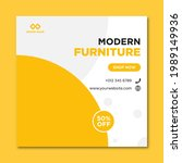 modern furniture sale banner... | Shutterstock .eps vector #1989149936