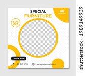 modern furniture sale banner... | Shutterstock .eps vector #1989149939