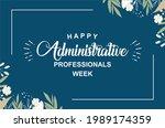 happy administrative... | Shutterstock .eps vector #1989174359