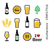beer colorful vector icons set  ... | Shutterstock .eps vector #198917516