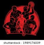group of gaelic football male... | Shutterstock .eps vector #1989176039