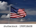 united stated flag with blue... | Shutterstock . vector #198918608
