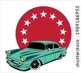 vintage car illustration ready... | Shutterstock .eps vector #1989186953