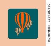 hot air balloon logo.travel ...   Shutterstock .eps vector #1989187580