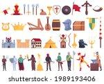 medieval icons set. cartoon set ... | Shutterstock .eps vector #1989193406