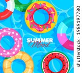 colorful lifebuoy pattern....   Shutterstock .eps vector #1989197780