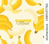 banana seamless pattern. summer ...   Shutterstock .eps vector #1989197783