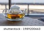 Transparent Teapot With Hot...
