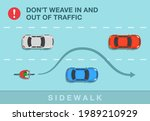 safety bicycle driving rule. do ... | Shutterstock .eps vector #1989210929