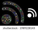 bright mesh net wireless... | Shutterstock .eps vector #1989228143