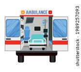 rear view of an ambulance with... | Shutterstock .eps vector #1989257093