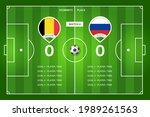 football match belgium   russia....   Shutterstock .eps vector #1989261563