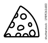 cheese icon. bold outline...
