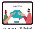 brainstorming  communication ... | Shutterstock .eps vector #1989269669