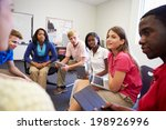 high school students taking... | Shutterstock . vector #198926996