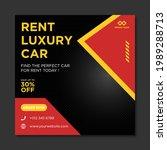 rent car for social media... | Shutterstock .eps vector #1989288713