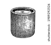 hand sketched aromatic candle...   Shutterstock .eps vector #1989292526