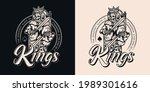 vintage monochrome gambling... | Shutterstock .eps vector #1989301616