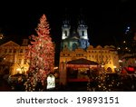 Old Town Square In Prague With...