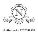 stylized letter n of the latin...   Shutterstock .eps vector #1989337580