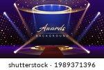 blue pink red golden stage... | Shutterstock .eps vector #1989371396
