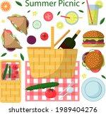 set of elements for summer... | Shutterstock .eps vector #1989404276