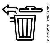 Restore Trash Bin Icon. Outline ...