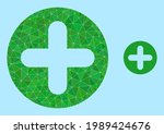 low poly veterinary plus icon... | Shutterstock .eps vector #1989424676