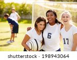 members of female high school... | Shutterstock . vector #198943064