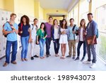 group of high school students... | Shutterstock . vector #198943073