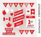 set design elements for canada... | Shutterstock .eps vector #198943319