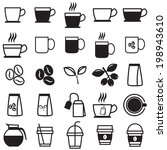 coffee icons | Shutterstock .eps vector #198943610