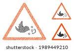 mosaic bird influenza warning...   Shutterstock .eps vector #1989449210