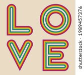 Lettering Word Love. The Edges...