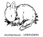 sketch  cute sleeping baby... | Shutterstock . vector #198945890