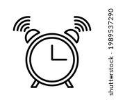 clock icon. alarm sign. vector...   Shutterstock .eps vector #1989537290