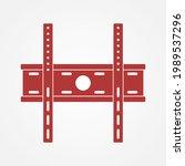 tv wall bracket icon. wall...   Shutterstock .eps vector #1989537296