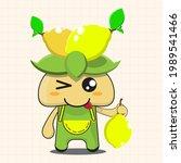 vector illustration of chibi... | Shutterstock .eps vector #1989541466