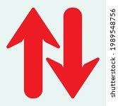 red arrow icon vector eps  10 | Shutterstock .eps vector #1989548756
