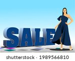 3d sale image with images of... | Shutterstock . vector #1989566810
