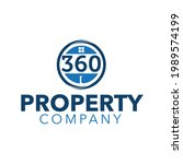 circle 360 property company... | Shutterstock .eps vector #1989574199
