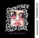 comic cartoon girl face in...   Shutterstock .eps vector #1989600230