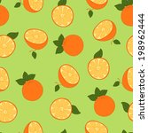 orange seamless pattern | Shutterstock .eps vector #198962444