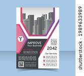 corporate business flyer poster ...   Shutterstock .eps vector #1989633989