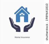 home insurance and finance icon ...   Shutterstock .eps vector #1989641810